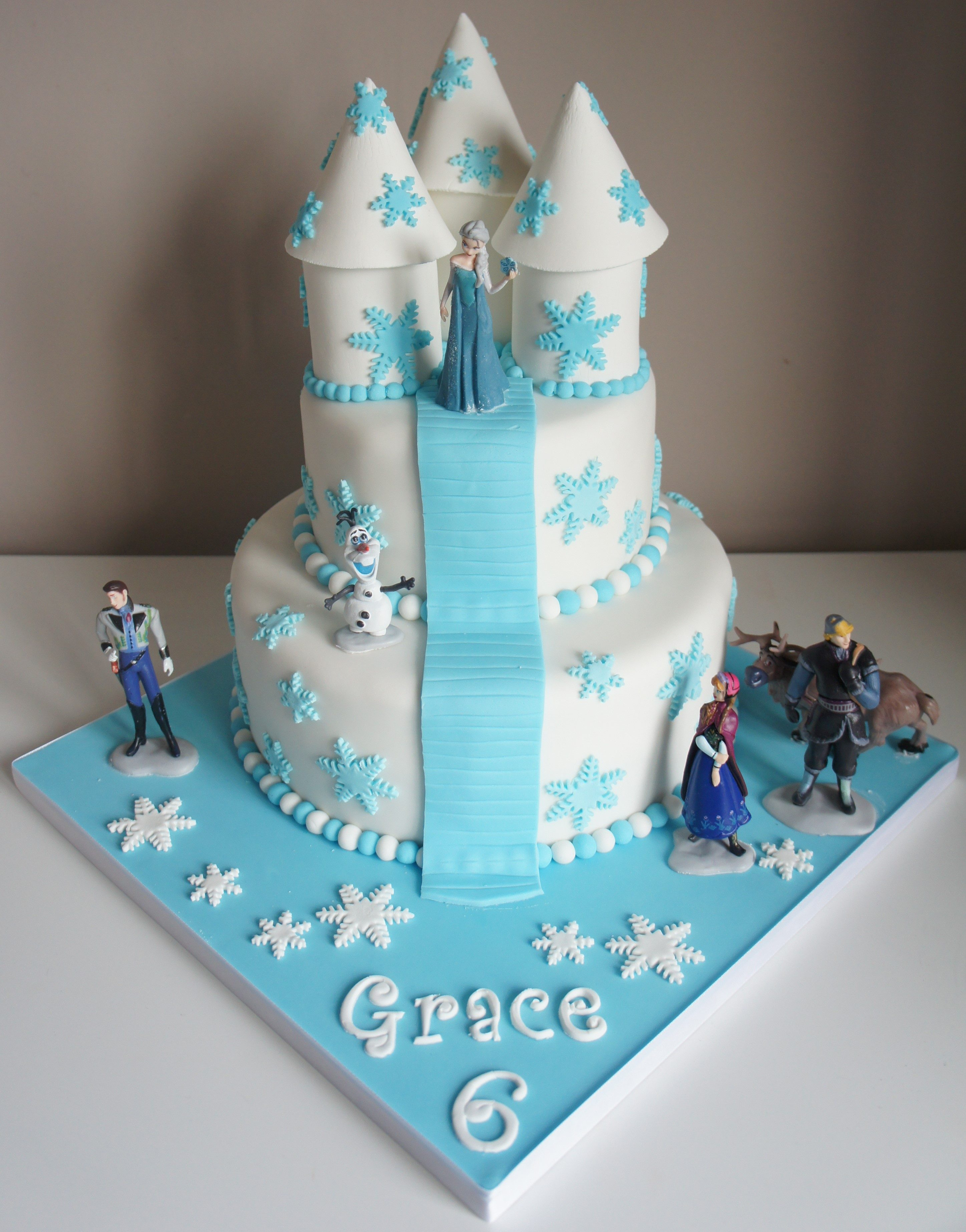 Outstanding Frozen Castle Georginas Cakes Funny Birthday Cards Online Overcheapnameinfo